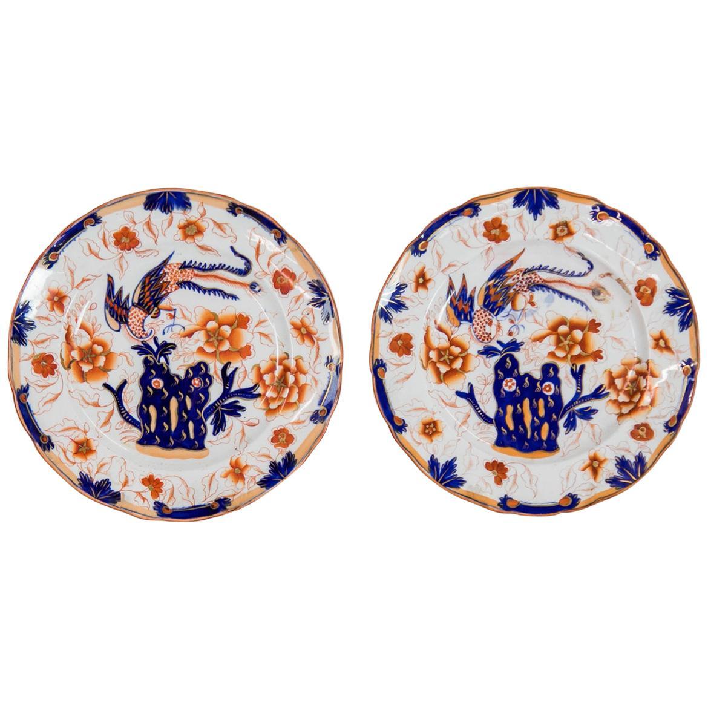 Pair of English Staffordshire Plates