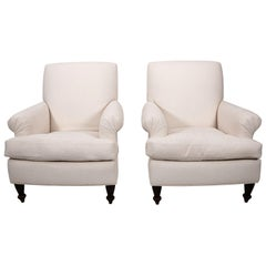Pair of English Style Club Chairs