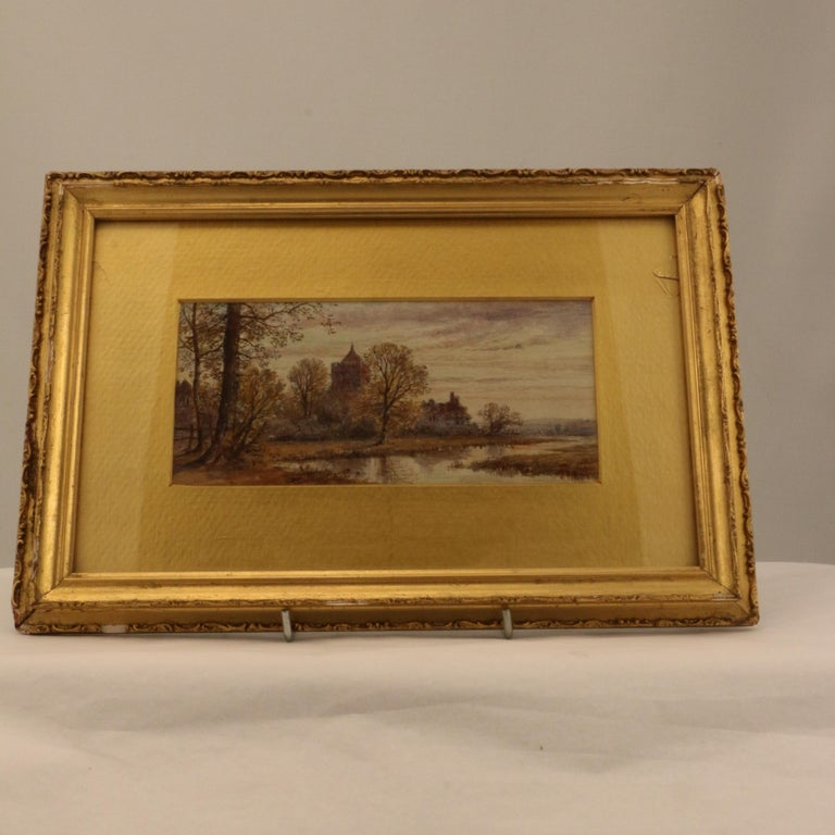 Although unsigned and not large, this pair have a delicate charm and pleasing aspect that would make them a connoisseur's choice. The first of children and a dog, the second of a half timbered house and Saxon church. They are both very finely