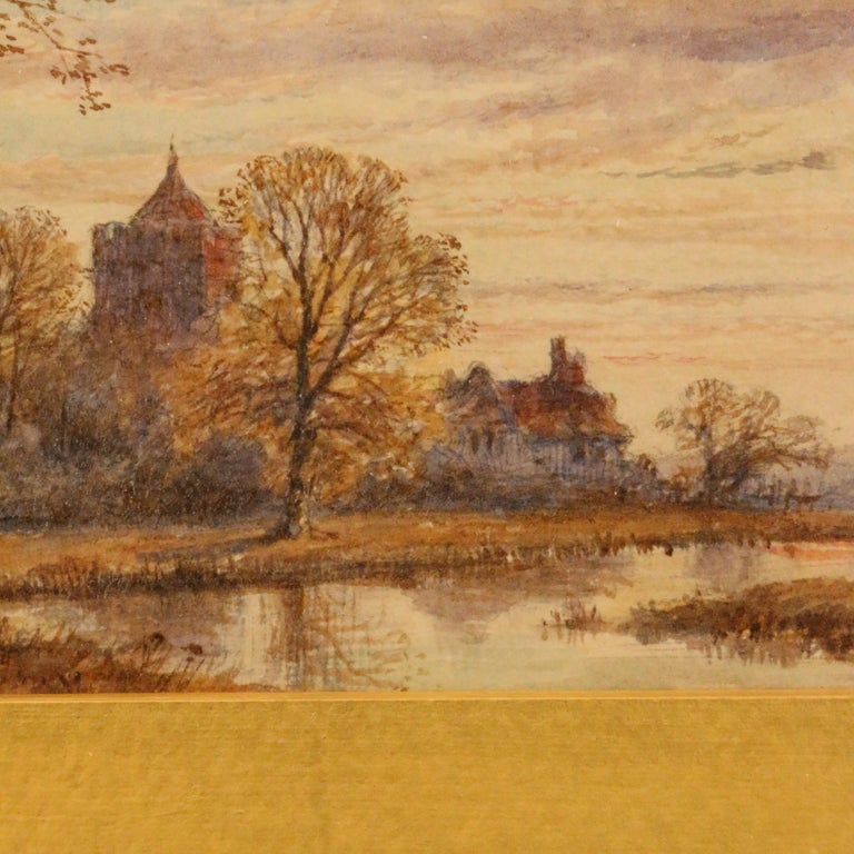 19th Century Pair of English Watercolors, Country Scenes For Sale