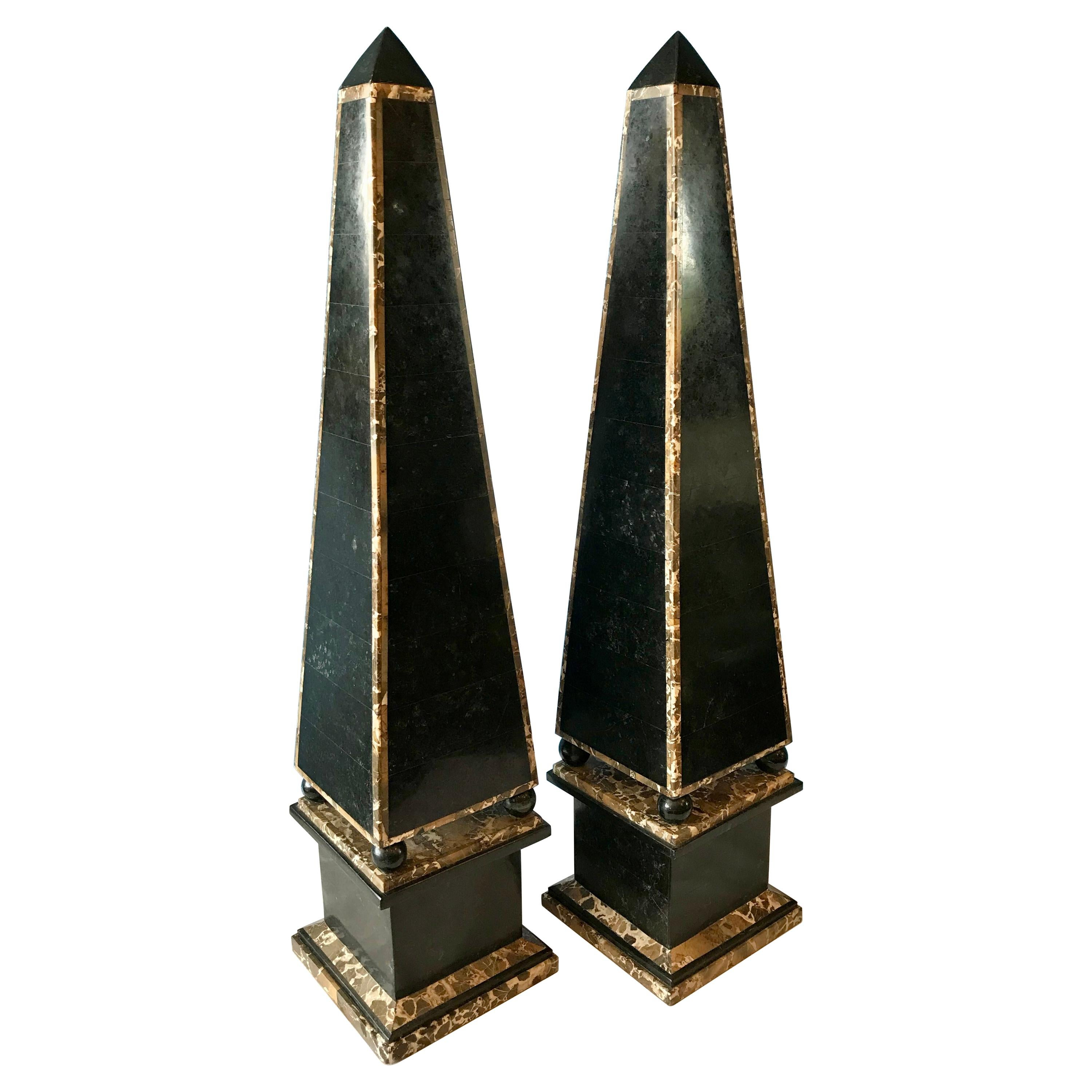 Pair of Enormous Obelisks by Maitland Smith