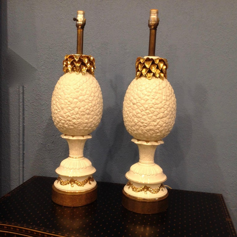 This visually stunning pair is attributed to Marbro.