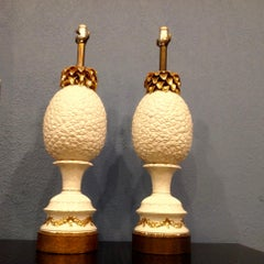"""Pair of Enormous """"Pineapple"""" Lamps"""