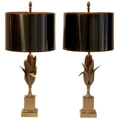 "Pair of ""Epi De Maïs"" Table Lamps by Maison Charles & Fils, circa 1960"