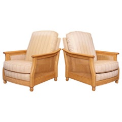 Pair of Ercol Bergère Armchairs 2 Lounge Chairs