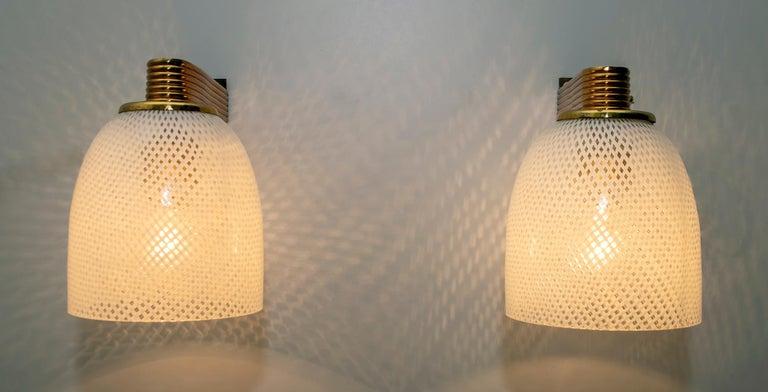 Mid-20th Century Pair of Ercole Barovier Art Deco Murano Glass