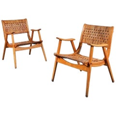 Pair of Erich Dieckmann Lounge Chairs for Gelanka Tyskland, Germany 1930s
