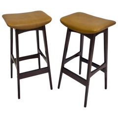 Pair of Erik Buch for Dyrlund High Stools