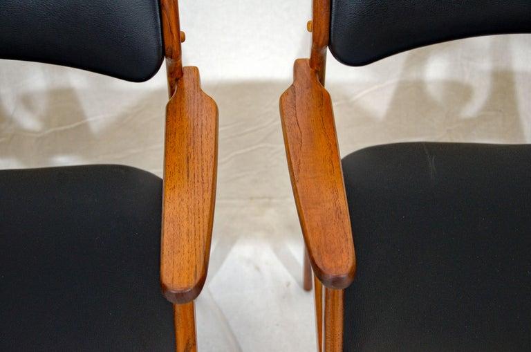 Pair of Erik Buck (Buch) Arm Chairs, Office Chairs 3