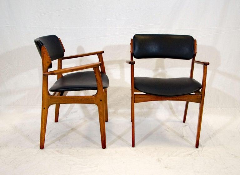 Scandinavian Modern Pair of Erik Buck (Buch) Arm Chairs, Office Chairs