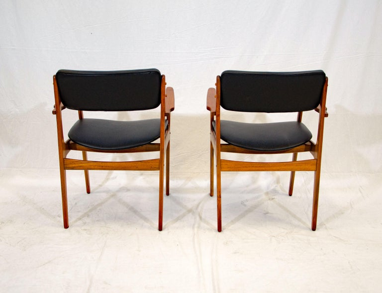 Pair of Erik Buck (Buch) Arm Chairs, Office Chairs In Good Condition In Crockett, CA
