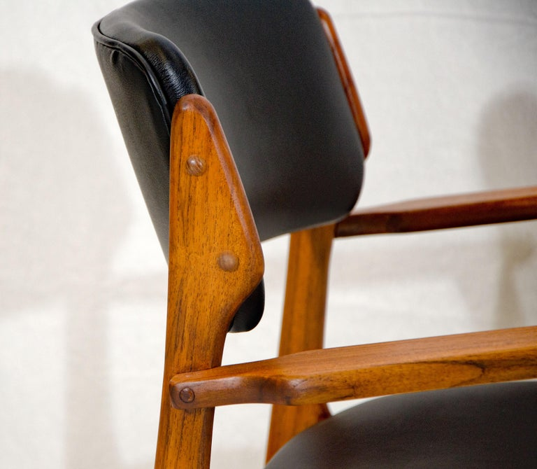 20th Century Pair of Erik Buck (Buch) Arm Chairs, Office Chairs