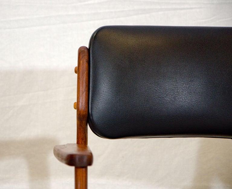 Teak Pair of Erik Buck (Buch) Arm Chairs, Office Chairs