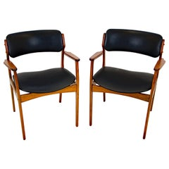 Pair of Erik Buck (Buch) Arm Chairs, Office Chairs