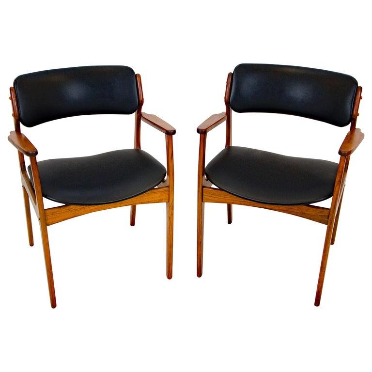Pair of Erik Buck (Buch) Arm Chairs, Office Chairs