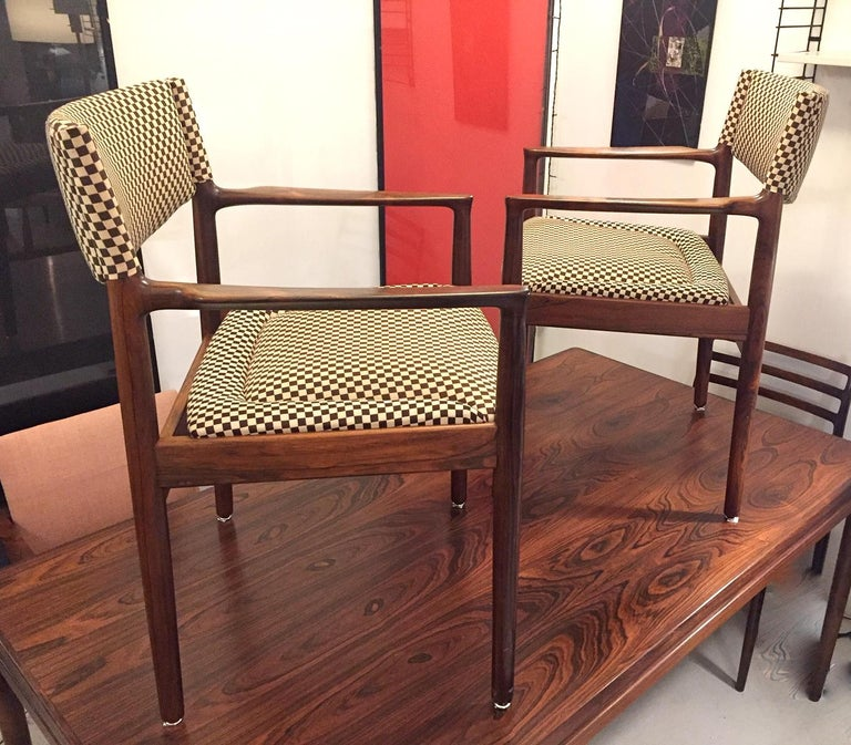 Mid-20th Century Pair of Erik Worts Brazilian Rosewood Midcentury Armchairs, 1960 For Sale