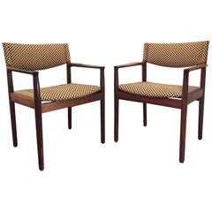 Pair of Erik Worts Brazilian Rosewood Midcentury Armchairs, 1960