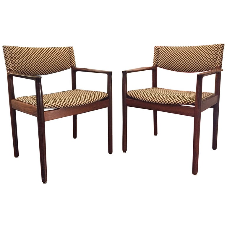 Pair of Erik Worts Brazilian Rosewood Midcentury Armchairs, 1960 For Sale