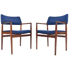 Pair of Erik Wortz Erika Model Rosewood Danish Armchairs