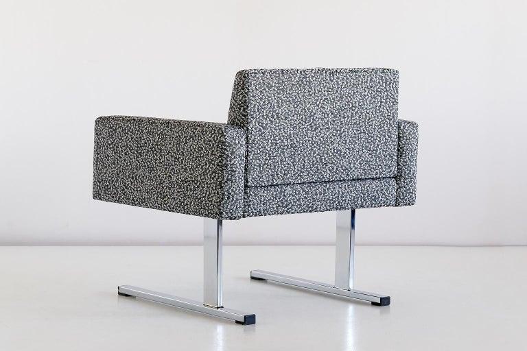 Pair of Esko Pajamies Lounge Chairs in Raf Simons Fabric, Merva Finland, 1960s For Sale 3