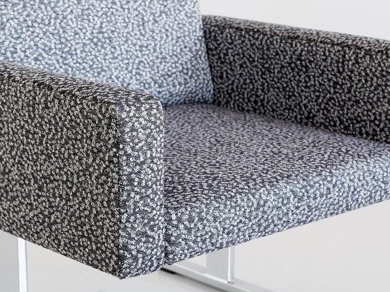 Mid-20th Century Pair of Esko Pajamies Lounge Chairs in Raf Simons Fabric, Merva Finland, 1960s For Sale