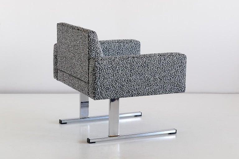 Pair of Esko Pajamies Lounge Chairs in Raf Simons Fabric, Merva Finland, 1960s For Sale 2