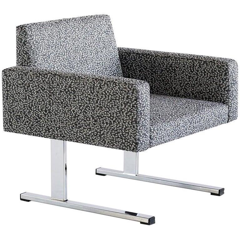 Pair of Esko Pajamies Lounge Chairs in Raf Simons Fabric, Merva Finland, 1960s For Sale