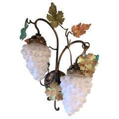 Pair of Estate Italian Venetian Glass Sconces