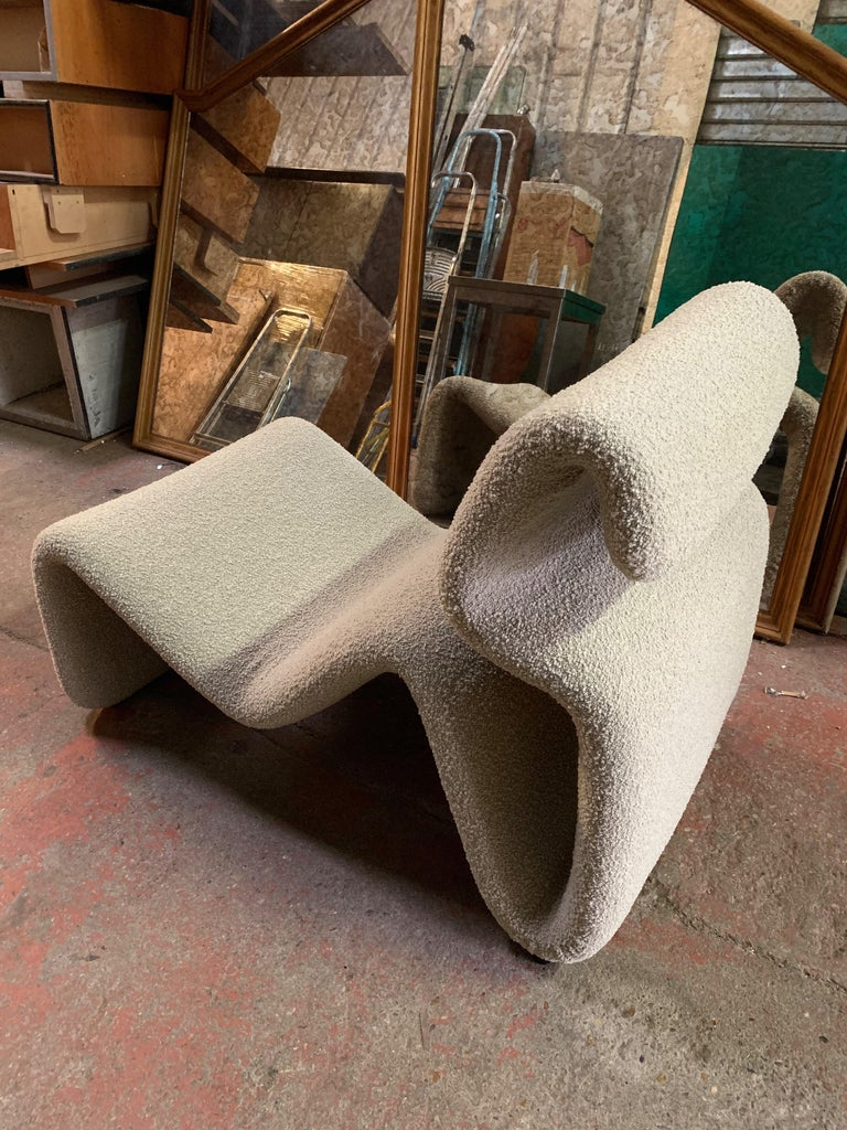 Pair of Etcetera Lounge Armchair by Jan Ekselius, Sweden, 1970s For Sale 3
