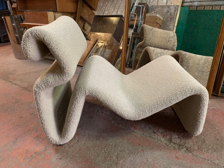 Pair of Etcetera Lounge Armchair by Jan Ekselius, Sweden, 1970s In Excellent Condition For Sale In SAINT-OUEN, FR
