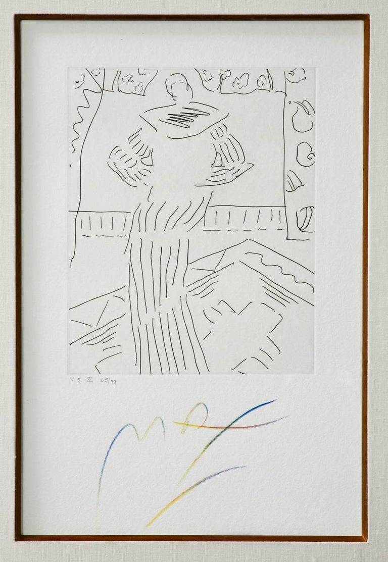 Mid-Century Modern Pair of Etchings by Peter Max V3 X and XI For Sale
