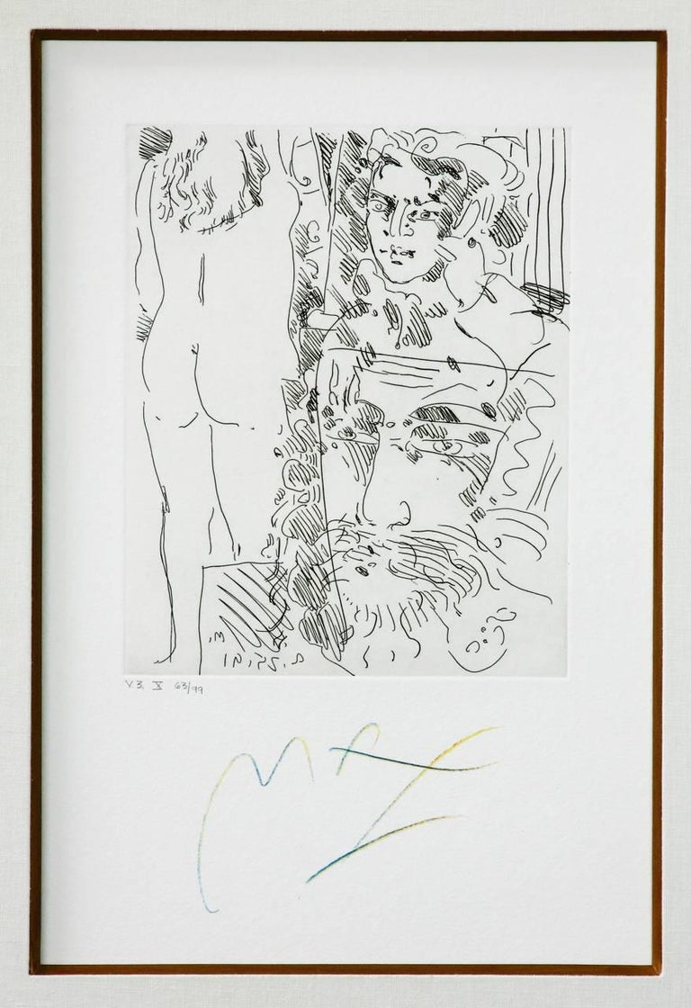 Pair of Etchings by Peter Max V3 X and XI For Sale 1