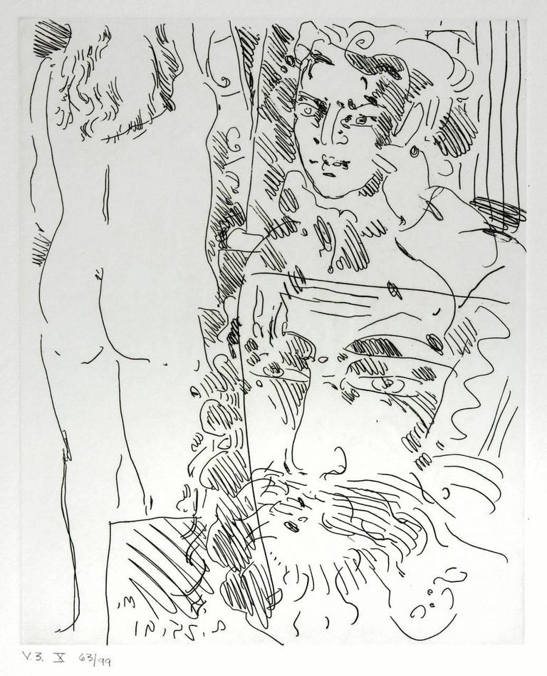 Pair of Etchings by Peter Max V3 X and XI For Sale 2