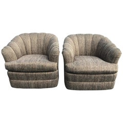 Pair of Ethan Allen Swivel Chairs