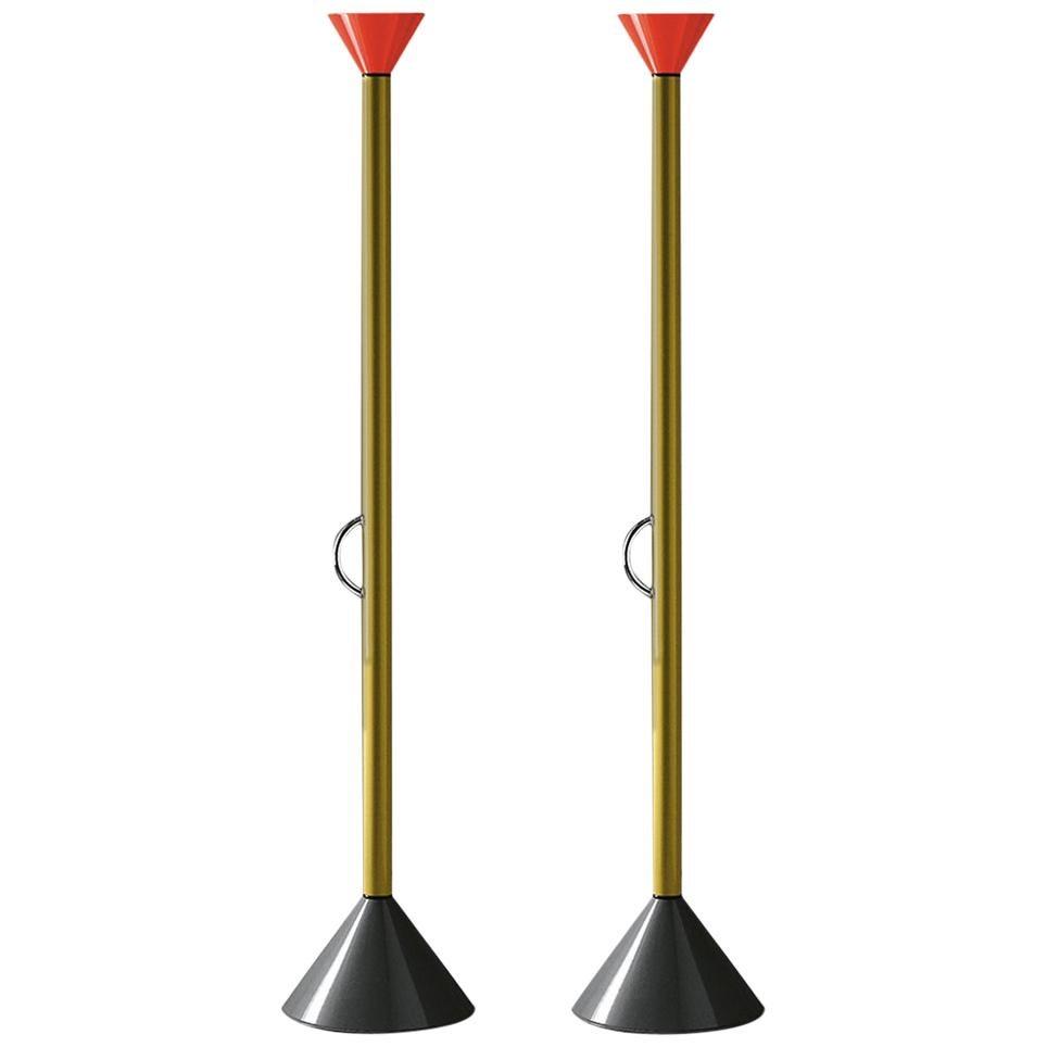 Pair of Ettore Sottsass Callimaco Floor Lamps for Artemide
