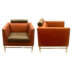 Pair of Ettore Sottsass Eastside Lounge Chairs for Knoll, Italy