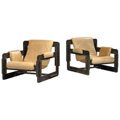 Arne Jacobsen Pair of Lounge Chairs for Fritz Hansen