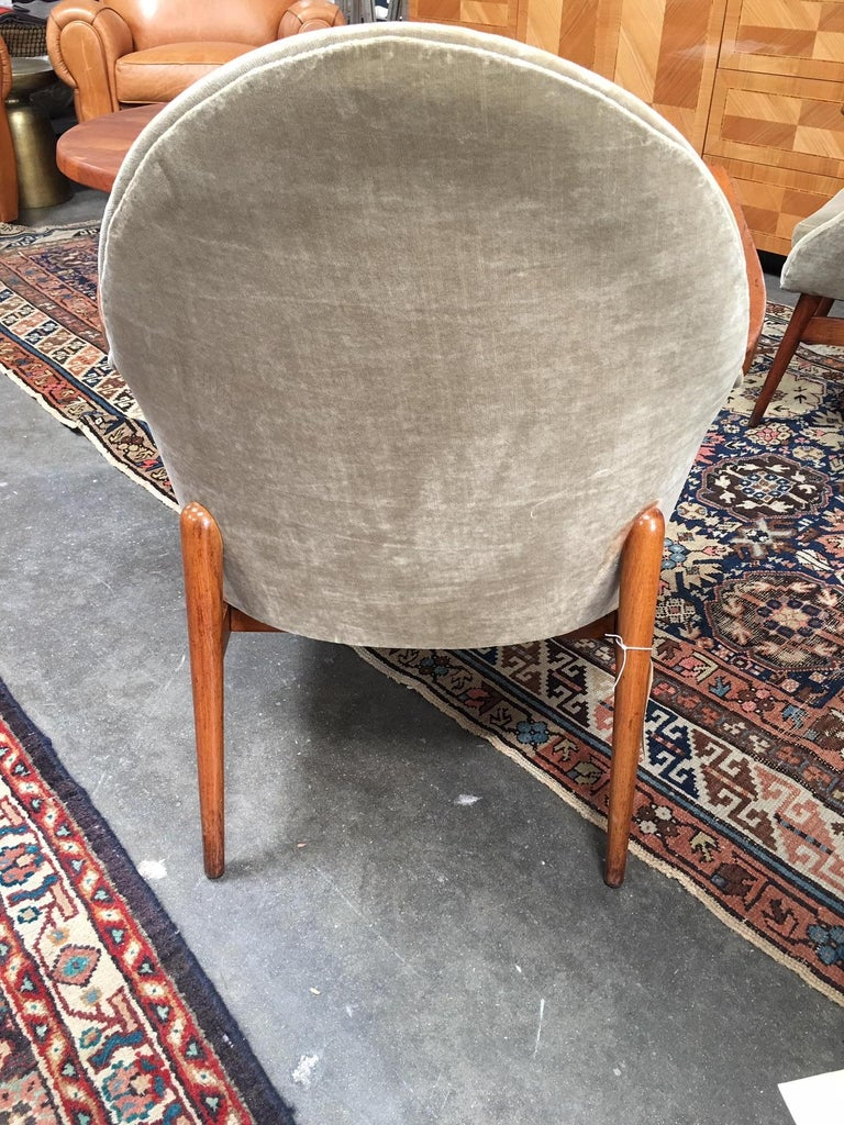 Pair of European Mid-Century Modern Chairs For Sale 2