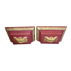Pair of European Parcel-Gilt Carved Wall Shelves with 18th Century Elements