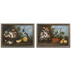 Pair of European Still Life Paintings on Canvas
