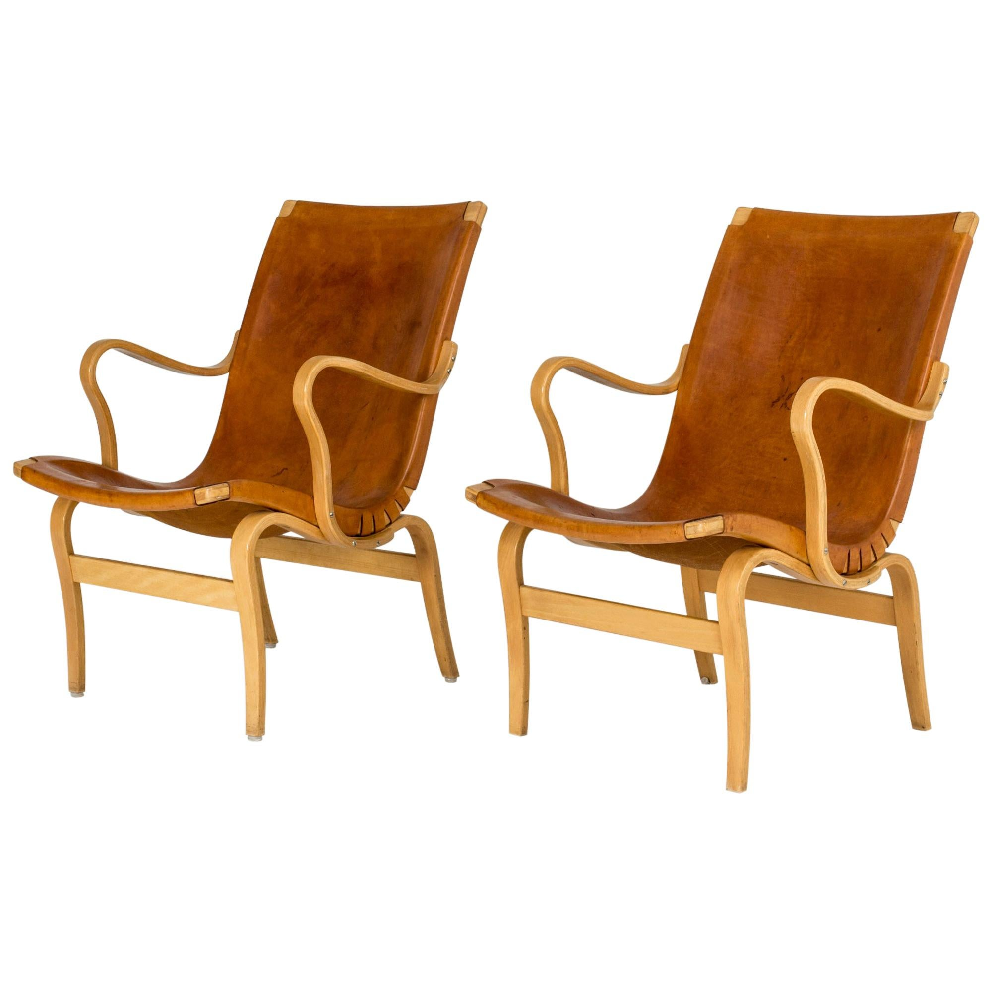 """Pair of """"Eva"""" Lounge Chairs by Bruno Mathsson for DUX"""
