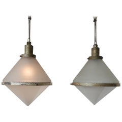 Pair of Exceptionally Rare Peter Behrens Pendants