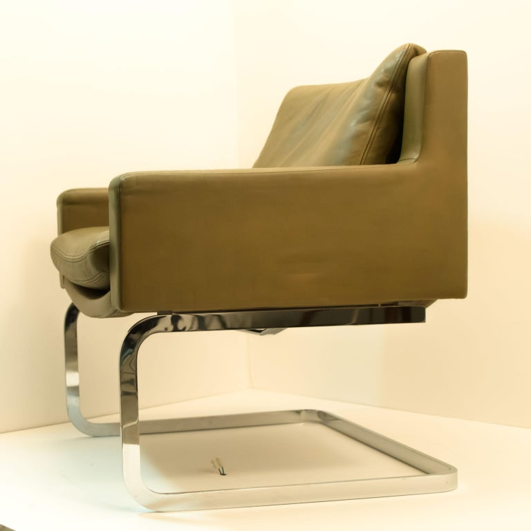Pair of Executive Armchairs and Hocker by Robert Haussmann for the Sede For Sale 2
