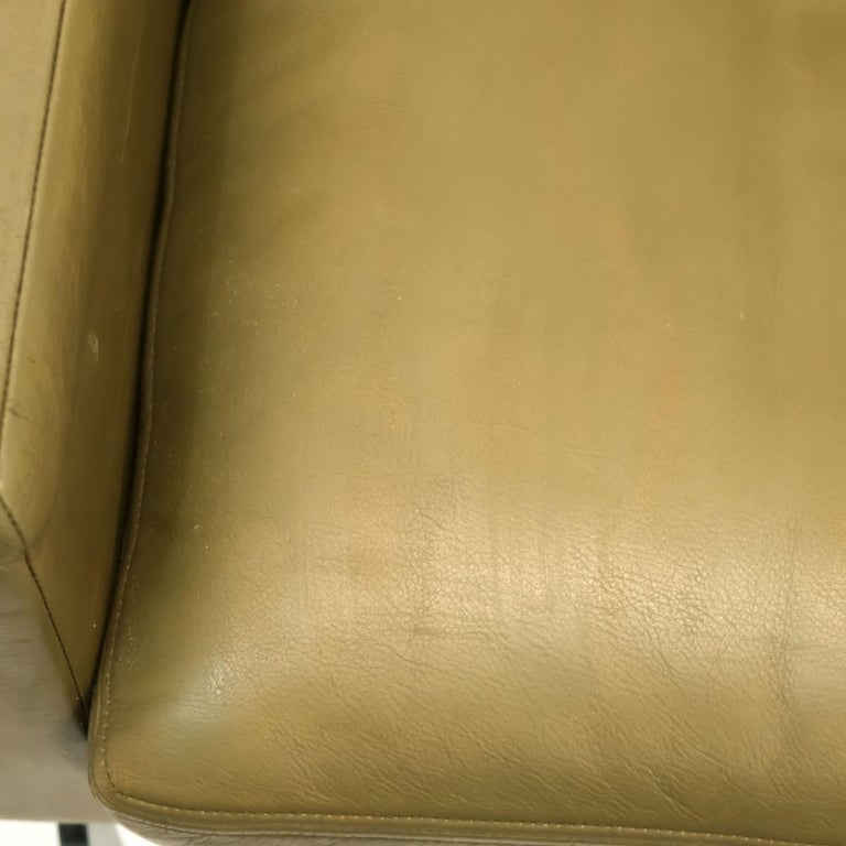 Pair of Executive Armchairs and Hocker by Robert Haussmann for the Sede For Sale 6