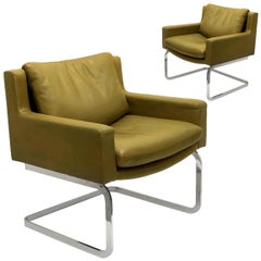 Pair of Executive Armchairs by Robert Haussmann for the Sede, 1960
