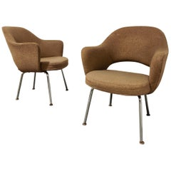 Pair of Executive Conference Armchairs by Eero Saarinen for Knoll, 1970s