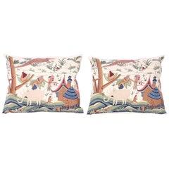 Pair of Exotic Needlework Pillows, Priced individually