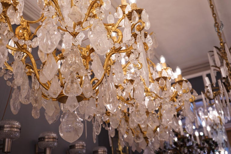 Pair of Exquisite French Rock Crystal Cherub Chandeliers For Sale 2