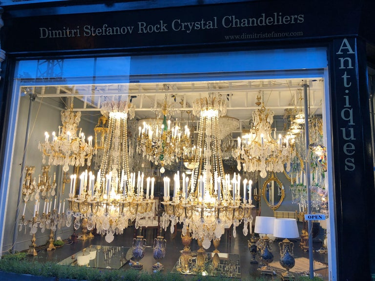 Pair of Exquisite Louis XV Style Rock Crystal Chandeliers In Excellent Condition For Sale In London, GB