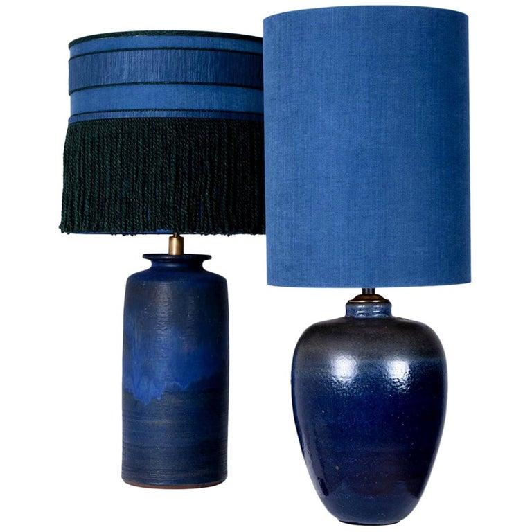 Pair Of Extra Large Ceramic Table Lamps, Custom Ceramic Table Lamps